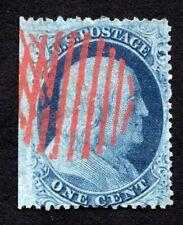USA 1855 stamp Scott#20 used red cancel CV=305$