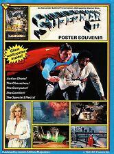 Superman III Poster Souvenir Magazine 1983