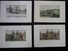 Anna schrutz Hoffmann, 1878. four etchings-Vienna Secession. Signed