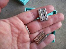 vintage Tiffany & Co Roman Numeral cufflinks cuff links sterling Italy estate