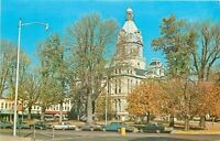 Rockville Indiana~Parke County Court House~1960s Cars~Postcard