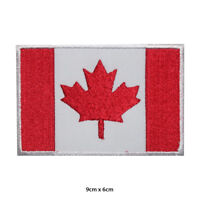 Canada National Flag Embroidered Patch Iron on Sew On Badge For Clothes etc