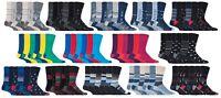 SockShop Gentle Grip - Mens 6 Pairs No Elastic Socks, 6-11 Uk,39-45 eur
