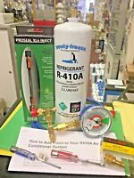 410a, r410 Do-It-Yourself Kit, Recharge with Easy Color-Coded Gauge,Instructions