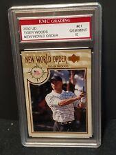 Tiger Woods 2002 Upper Deck UD Golf New World Order EMC 10 MINT GRADED