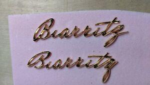 Cadillac 1957 El Dorado Biarritz 18 karat gold fender scripts