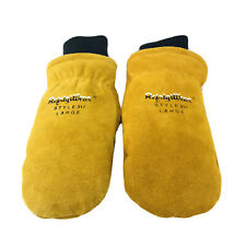 RefrigiWear Fleece Lined Mittens Size Large Insulated Warm Suede Leather Work