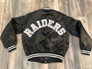 Vintage New Los Angeles Oakland Raiders Chalk Line Satin Jacket Men's Large