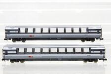 N Minitrix SBB 2 Schnellzugwagen 1. Kl. grau-weiß Personenwagen coach /I22