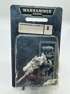 40K Chaos Space Marines Berzerker with Icon of Khorne Metal Sealed Blister Pack