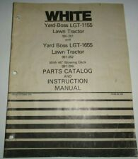 White LGT-1155 LGT-1655  Lawn Garden Tractor Parts Catalog Instruction Manual