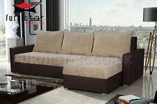 Corner Sofa Bed COUCH MONICA storage BONELL SPRINGS SETTEE polskie narozniki
