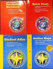 Set of 4 Scott Foresman Pk Book Lot! Outline Maps Student Atlas Quick Study +