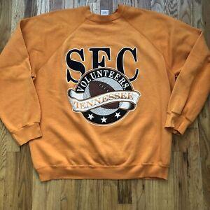 Men's Vintage 80's Tennessee Volunteers SEC Football Crewneck Sweatshirt Sz 2XL