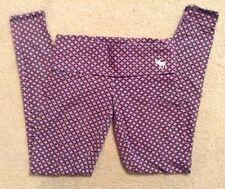 EUC! Womens Abercrombie Pink/Navy Blue Geometric Print Leggings Sz XS