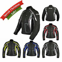 Motorbike Motorcycle Waterproof Jacket Armored Cordura Textile Coat Gear Shop UK