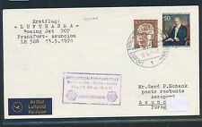 95744) LH FF Frankfurt - Paraguay 13.5.71, Brief ab Berlin, MiF