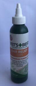 Vet's Best Dry Ear Relief for Dogs, 4 oz NEW
