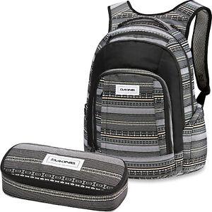 DAKINE SET Laptop Rucksack Schulrucksack FRANKIE 26L + SCHOOL CASE XL Mäppchen
