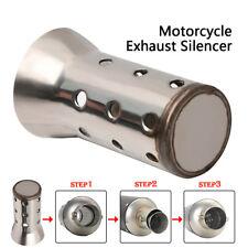 UK 51MM Motorcycle Motorbike Exhaust Muffler Angled Can Insert Baffle Silencer