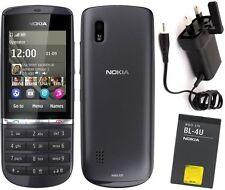 Nokia Asha 300 Graphite 3 g débloqué état neuf Touch & Type 5MP téléphone appareil photo