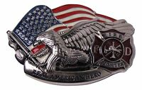 Fire Fighter Department Hero Belt Buckle (4x3 inches)