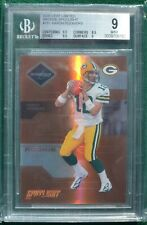 Aaron Rodgers rookie card BGS 9 Mint - 2005 Limited Bronze #d /100 Packers RC