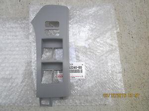 06 - 11 TOYOTA YARIS DRIVER LEFT MASTER POWER WINDOW SWITCH BEZEL TRIM GRAY NEW