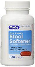 Rugby Docusate Sodium 250mg Capsules Stool Softener 100ct - Exp 01-2021