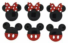 Jesse James Dress It Up Buttons ~ LICENSED - DISNEY GLITTER MICKEY & MINNIE EARS