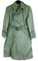 Vietnam Era Raincoat Trench Coat QUARPEL ARMY Green 274 1967 Size Men's 36 R
