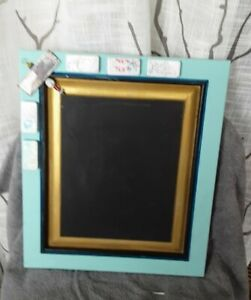 Vintage Wood door Chalkboard frame domino's farmhouse style memo, menu board