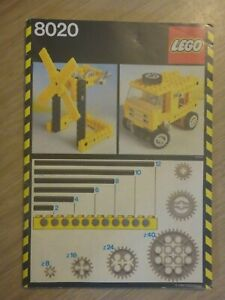 Vintage Lego Technic Universal Building 8020 Instruction Manual Only