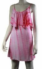 Cotton Blend Short Sleeve Dresses Tie Dye