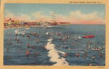 Postcard 14th Street Beach Ocean City NJ