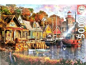 EDUCA 5000 Piece Jigsaw Puzzle 18015 The Harbour Evening 157 x 107 cm Brand New