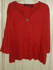 Embellished knit top size 4X