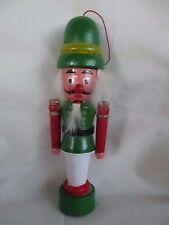 """Unique 7"""" Wooden Nutcracker Christmas Ornament"""