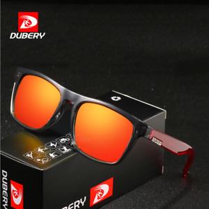 DUBERY Men Square Polarized Sunglasses Outdoor Sport Driving Fishing Glasses New