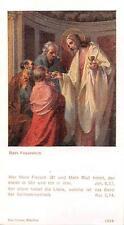 """Heiligenbild  Holycard Jesus Heiliege Komunion """" H3673"""" Messopfer 1925"""