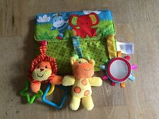Mothercare Baby Safari Jungle Animals Activity Rattle Mirror Comforter
