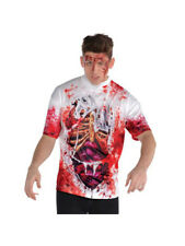 Mens Halloween Horror T Shirt Top Bloody Guts Groom Zombie Fancy Dress Costume
