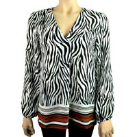 EX.DEBENHAMS ZEBRA PRINT TOP BLACK WHITE Sizes 10 - 18