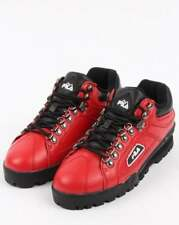 Fila Trailblazer Boots in Red Leather - 90s old skool rave, 80s casual classics