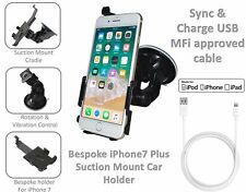 LIFETIME WARRANTY! iPhone 7 Plus Car Holder and MFi USB 3.1 Sync Charge Cable