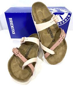 Birkenstock Mayari Women's Sz 7 (EU38)Reg Fit Rose/Old Rose Leather Sandals S1-1