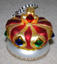 Mary Engelbreit Vintage Handblown Glass Ornament Crown Queen of Everything Me 4""