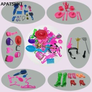 50pcs/set Kids Toy 1:6 Doll Accessories For 1/6 Dollhouse Mix Style Girl's Gift