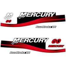 Mercury 60 Four Stroke EFI outboard decal aufkleber adesivo sticker set