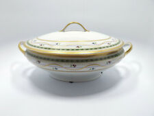 Faberge Limoges Luxembourg Green Gold Trim Tureen & Lid